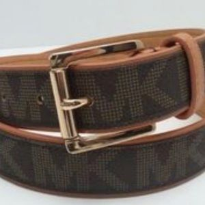 NWT MICHAEL MICHAEL Kors MK Logo Belt Chocolate
